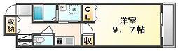 高松琴平電気鉄道琴平線 片原町駅 徒歩5分の賃貸マンション 2階1Kの間取り