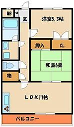 マンションアムール[3階]の間取り