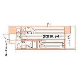 ルラシオン岡山野田屋町[7階]の間取り