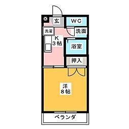 プチホームKAKO[2階]の間取り