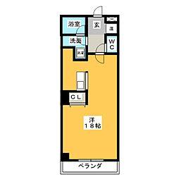 ハピネス植田[2階]の間取り