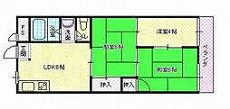 茶苑マンション[2階]の間取り