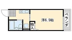 コスモスハイム[203号室]の間取り