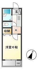 建友第二ハイツ[2階]の間取り