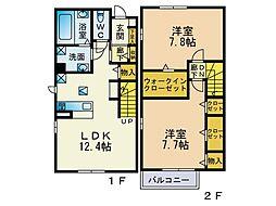 (仮)下作延5丁目新築テラスハウス[2階]の間取り