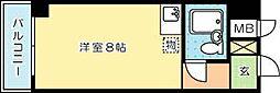 ホワイトパレス黄金五番館(分譲賃貸)[508号室]の間取り