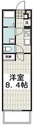 小田急江ノ島線 湘南台駅 徒歩5分の賃貸マンション 3階1Kの間取り