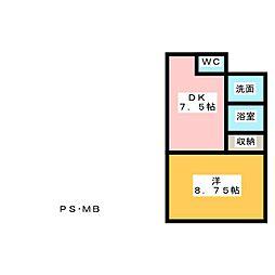 ライフ第6マンション藤枝駅前[5階]の間取り