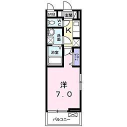 香川県高松市宮脇町2(アパート) 3階1Kの間取り