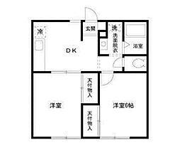 駐車場も借りていただける方限定 グランドールイズミIII202号室[2階]の間取り