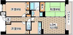 兵庫県神戸市灘区都通2丁目の賃貸マンションの間取り