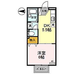 ロイヤルハイツⅡ[2階]の間取り
