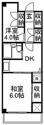 武蔵野パークマンション[501号室]の間取り