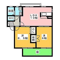 グリーンハイツ95 C[1階]の間取り