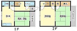 [タウンハウス] 兵庫県姫路市辻井1丁目 の賃貸【/】の間取り
