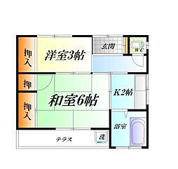[テラスハウス] 神奈川県横須賀市汐入町4丁目 の賃貸【/】の間取り