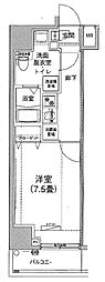 アイル プレミアム文京六義園 5階1Kの間取り