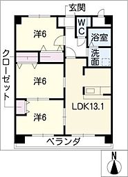 マイズフォレスト[6階]の間取り