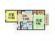 兵庫県加古川市加古川町稲屋の賃貸アパートの間取り