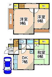 [テラスハウス] 東京都調布市緑ケ丘2丁目 の賃貸【東京都 / 調布市】の間取り
