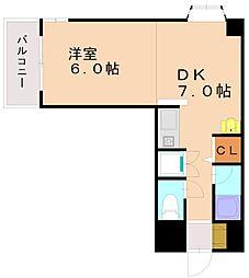 ウィング21大橋ビル[2階]の間取り