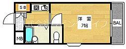 大阪府高槻市安満新町の賃貸マンションの間取り