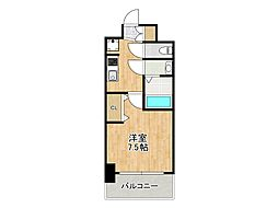 プレサンス堺筋本町センティス 5階1Kの間取り