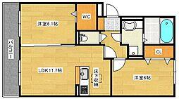 (仮)D−room仁保1丁目[303号室]の間取り