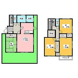 [一戸建] 愛知県名古屋市名東区平和が丘5丁目 の賃貸【/】の間取り