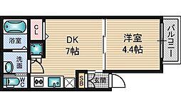 ジュネス trois 新大阪[3階]の間取り