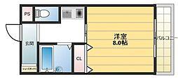 ウイングコート東大阪[7階]の間取り