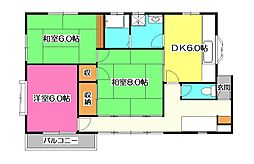 [一戸建] 埼玉県所沢市星の宮2丁目 の賃貸【/】の間取り