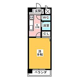 マジェスティ シロトリ[3階]の間取り