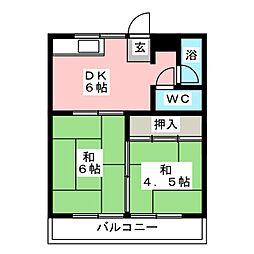 コーポグリーン志水[2階]の間取り