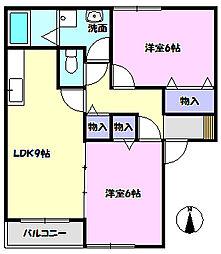サンハーモニー大和田F[101号室]の間取り