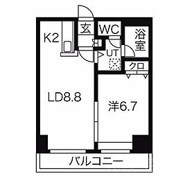 北海道札幌市中央区大通東3丁目の賃貸マンションの間取り