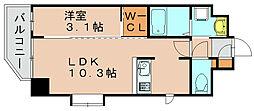 ネストピア博多駅前Ⅱ[7階]の間取り