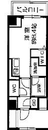 Osaka Metro長堀鶴見緑地線 西長堀駅 徒歩3分の賃貸マンション 8階ワンルームの間取り