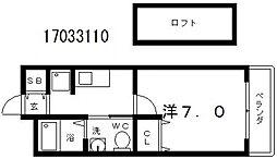 ウォブレマーニ昭和町[2階]の間取り