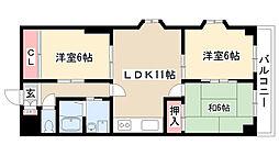 愛知県名古屋市南区内田橋1丁目の賃貸マンションの間取り