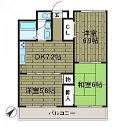 エントピアハウス[1階]の間取り