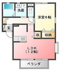 フローラルカーサA[2階]の間取り