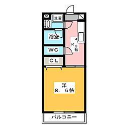 Pastel(パステル)[1階]の間取り