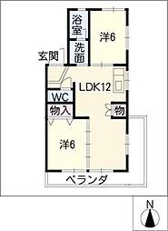 高重ビル[3階]の間取り