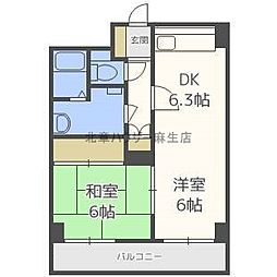 ビスタ麻生[8階]の間取り
