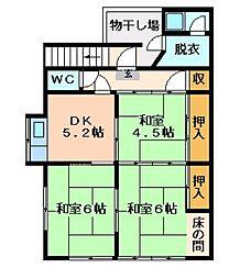 広島県呉市西愛宕町の賃貸アパートの間取り