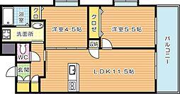 アースコート桜通り[10階]の間取り