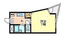 グラシア垂水[1階]の間取り