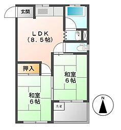 塩崎マンション[2階]の間取り