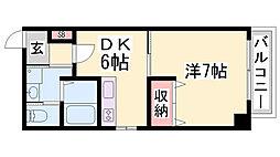 CUBRICK COURT[5階]の間取り